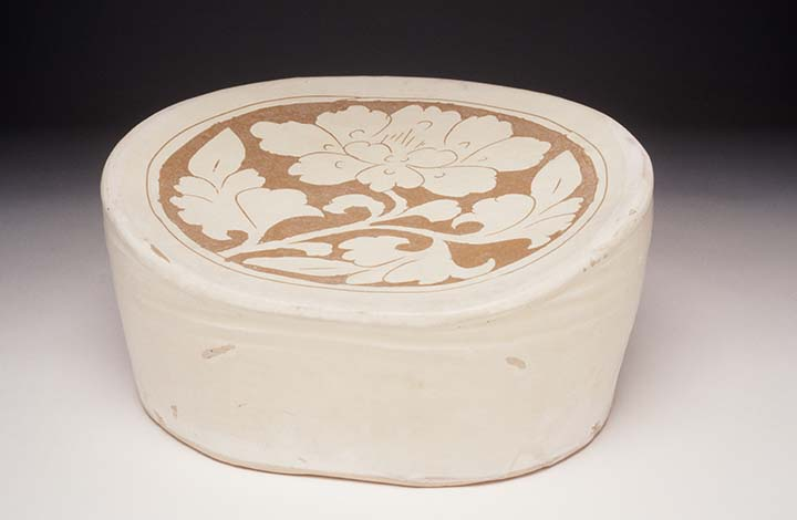 Pillow with Carved Floral Motif Northern Song dynasty