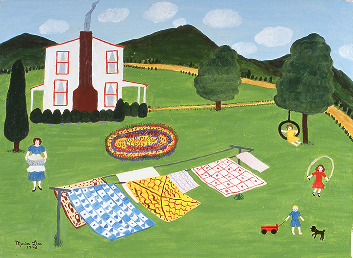 Quilts Blowing in the Wind, 1990 - Marion Forgey Line ©LCVA