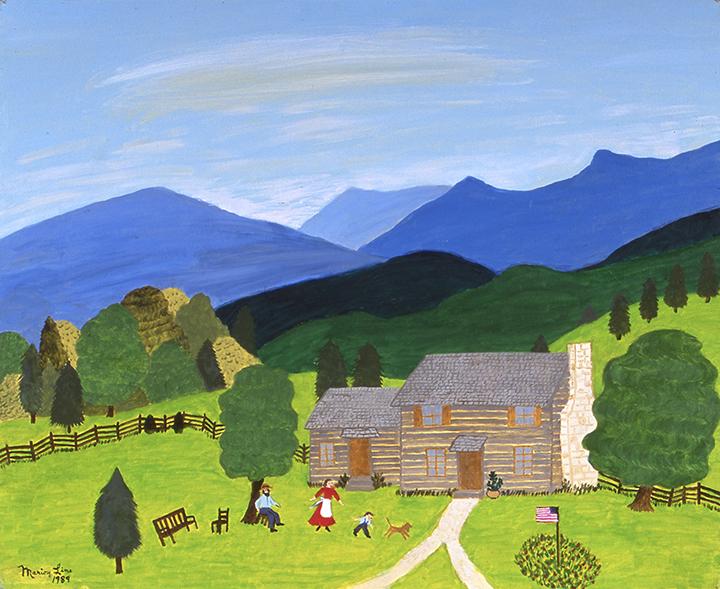 Blue Ridge Mountain Home, 1989 - Marion Forgey Line ©LCVA