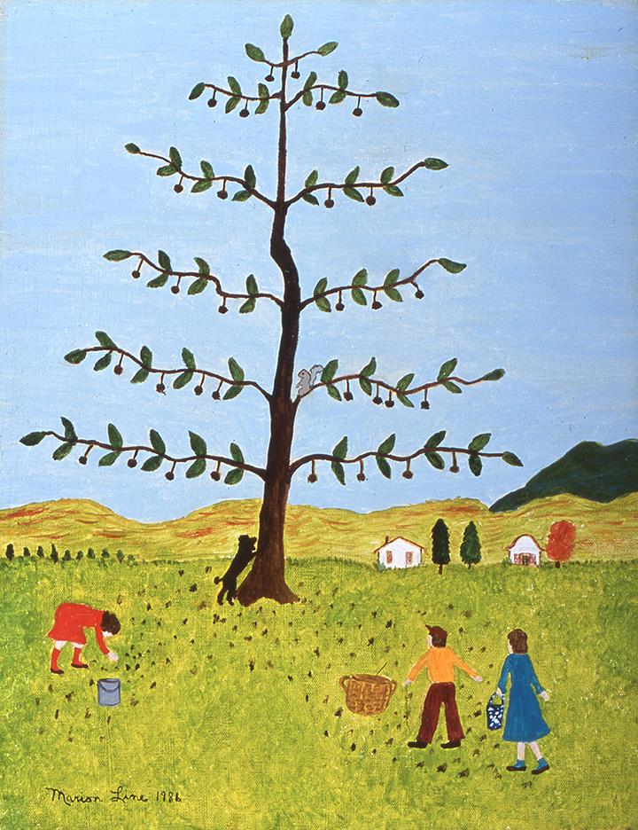 The Walnut Tree, 1986  - Marion Forgey Line ©LCVA