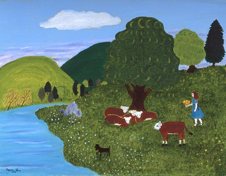 Cow Pasture, 1990 - Marion Forgey Line ©LCVA