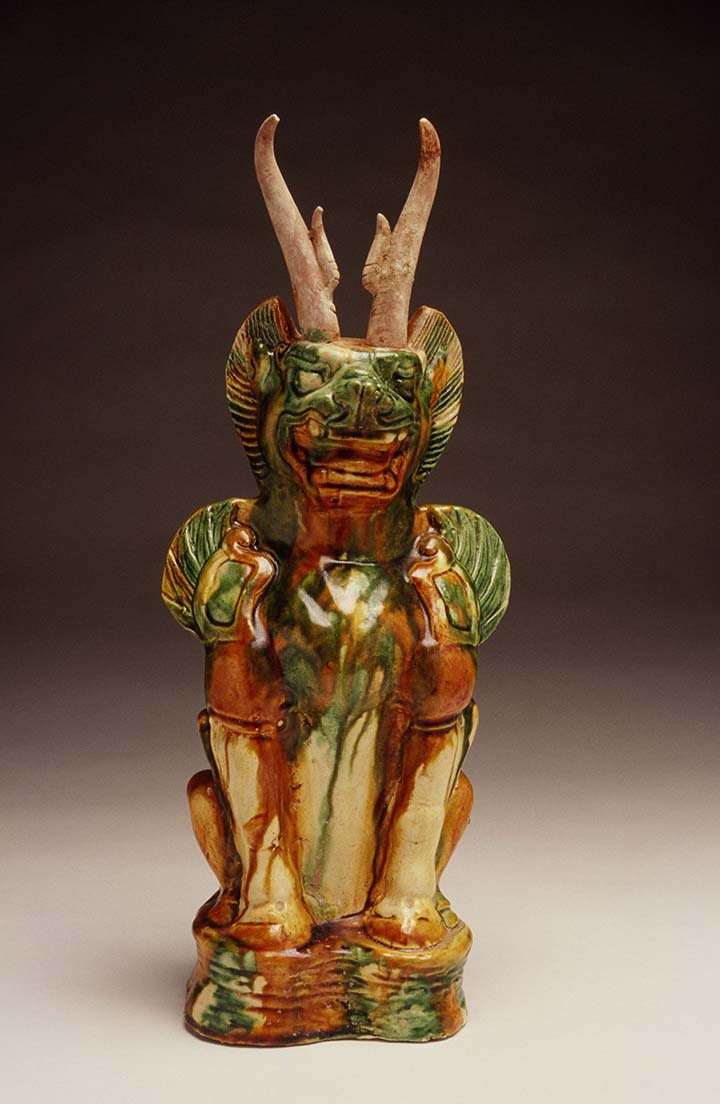 Feline-Headed Guardian Beast (Zhenmushou) Tang dynasty
