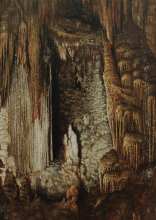 John Mooney (VA, 1843-1918), Luray Caverns, n.d., oil on canvas. Collection of the Longwood Center for the Visual Arts, American Art Collection, gift of Bob and Margaret Mayo, 2016.2.15.