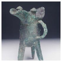 Tripod Wine Cup (Jue) Shang dynasty