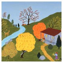 House by the Stream, 1988 - Marion Forgey Line ©LCVA