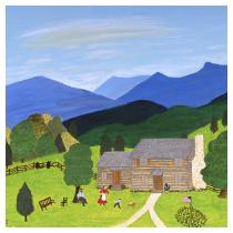 Blue Ridge Mountain Home, 1989 - Marion Forgey Line ©LCVA