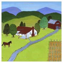 Rural Scene, 1992 - Marion Forgey Line ©LCVA