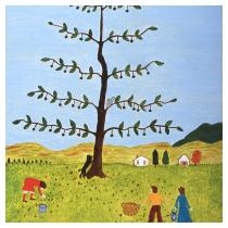 The Walnut Tree, 1986  - Marion Forgey Line ©LCVA