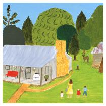 Country Home: Women and Children, 1992 - Marion Forgey Line ©LCVA
