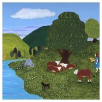 Cow Pasture, 1990 - Marion Forgey Line ©LCVA