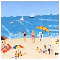 Beach Scene, 1988 - Marion Forgey Line ©LCVA