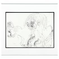 DWIGHT MACKINTOSH  Untitled (Human figure with animal)