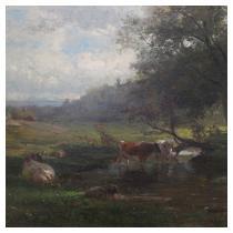SAMUEL LANCASTER GERRY (Massachusetts, 1813-1891) Pastoral Landscape