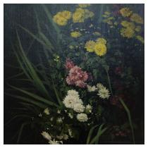 MARGUERITE HERPIN-MASSERAS Untitled (Mass of chrysanthemums above a pool)