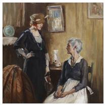 """PRUETT CARTER (American, 1891-1955) """"But Mother"""""""