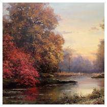 ROBERT .WOOD (American, 1889-1979)  Autumn Woods, 19th century
